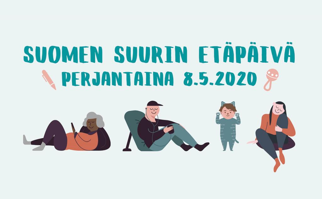 Annalan huvilan 8.5.2020 järjestämän Suomen suurin etäpäivä -verkkotapahtuman Facebook-tapahtuman kansikuva.